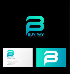 B and p letters monogram payment system vector