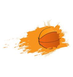 basketball ball ico with an effect vector image