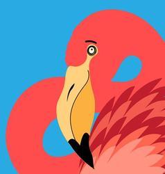 beautiful portrait of a flamingo vector image