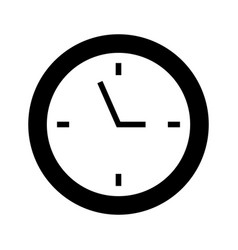 black icon clock cartoon vector image