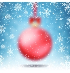 Blurred Christmas Ball vector image