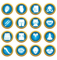 body parts icons set simple style vector image