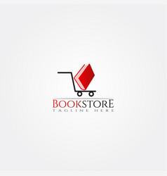 Bookstore icon template creative logo design vector