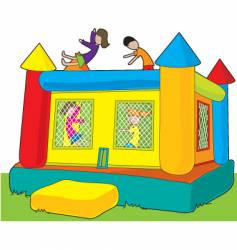 bounce castle vector image