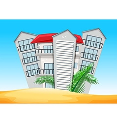 Buildings on the beach vector image