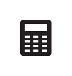 calculator icon in flat style for apps ui vector image