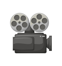 Camera for making movies camcorder with bobbins vector