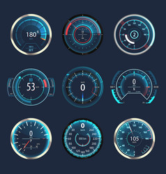 Car or automobile speedometer or odometer vector