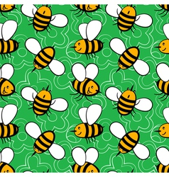 Cartoon bees vector image