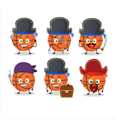 Cartoon character basket ball with various vector