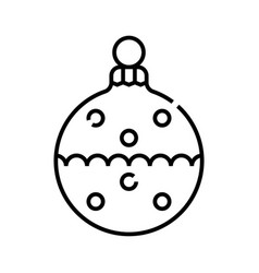 Christmas decoration toy line icon concept sign vector