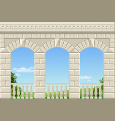 classic arch of the palace vector image