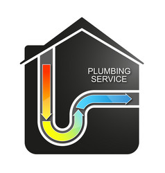 Cleaning water pipes in the house vector