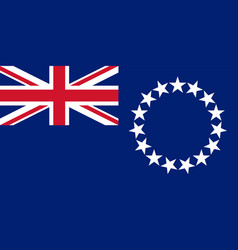 Colored flag of the cook islands vector