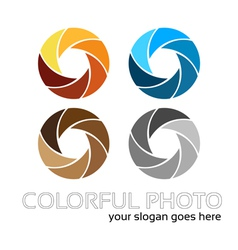 Colorful foto logo 4in1 vector image