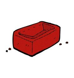 Comic cartoon brick vector