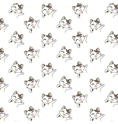 Cute Cartoon Cats Pattern vector image