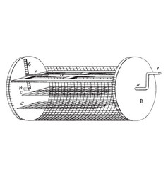 Cylindrical shaped dish cleaner dish washer vector