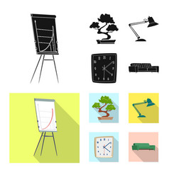 design of furniture and work sign vector image