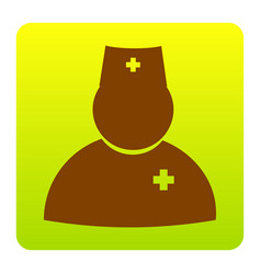 doctor sign brown icon at vector image