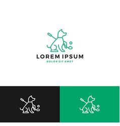 Dog golf logo vector