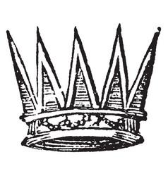 Eastern crown with rays proceeding from a circle vector