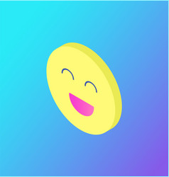 emoji chatting face laughing isolated icon vector image
