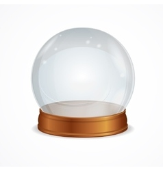 Empty transparent crystal ball vector
