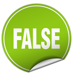 False round green sticker isolated on white vector
