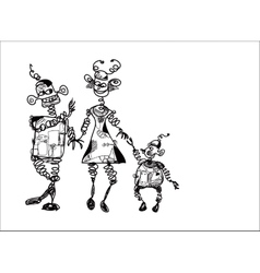 Family Of Robots vector image