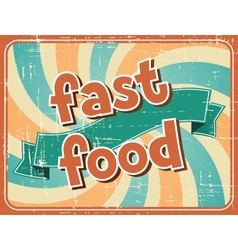 Fast food background in retro style vector