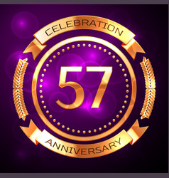 Fifty seven years anniversary celebration with vector