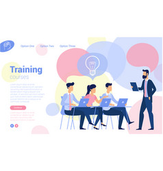 flat design business traning vector image