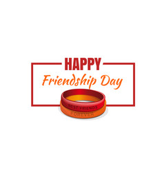 Friendship band and friendship day greetings vector