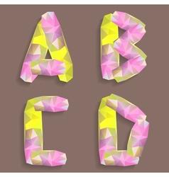Geometric crystal alphabet vector image