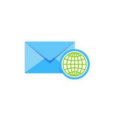 globe mail logo icon design vector image