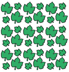 Green leaves grape seamless pattern design vector