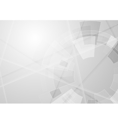 Grey geometric technology background vector