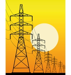 high voltage line vector image