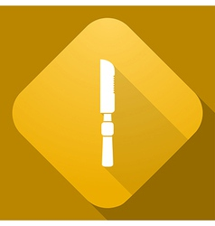 icon of Knife with a long shadow vector image