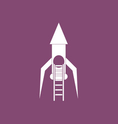 Icon rocket and ladder vector