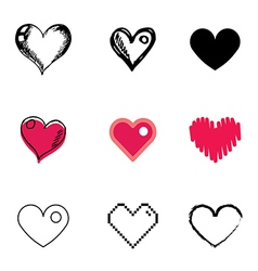 Icons heart vector