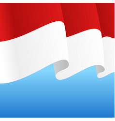 indonesian flag wavy abstract background vector image