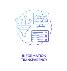 Information transparency concept icon vector