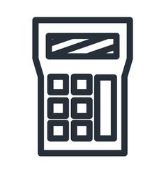 Isolated calculator line style icon design vector