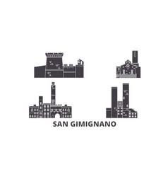 italy san gimignano flat travel skyline set vector image