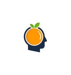 juicy human head logo icon design vector image