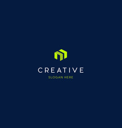 letter m building creative logo design vector image