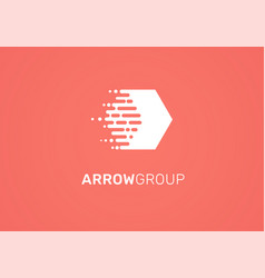 Logo - technology arrow tech icon and symbol vector