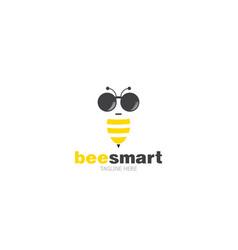 logo template bee smart vector image